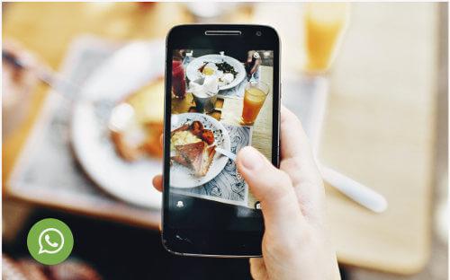 Foto en dispositivo móvil